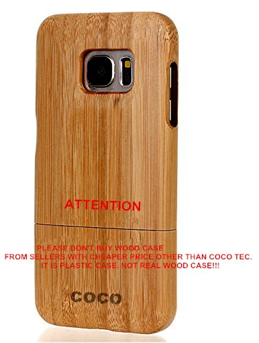 san francisco 4702c 26b13 Galaxy S7 Edge case, S7 Edge wooden case CoCo@ 100% Unique Genuine Handmade  Natural Wood Case Hard Bamboo Shockproof Case as Artwork for New Samsung ...