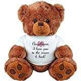 Angelique, I Love You To The Moon And Back: Medium Plush Teddy Bear
