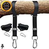 Tree Swing & Hammock Hanging Kit|10ft Extra Long Straps| Holds 2000lbs| 2 Strap & Carabiners| Easy,Fast Swing Hanger Installation| No Stretching| Better than Swing Rope & Chain| Perfect For any Swings