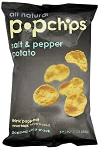 Popchips, Salt & Pepper, 3-Ounce Bags (Pack of 12)