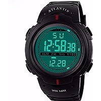 Relogio Digital Atlantis Data Cronometro Numeros Grandes C4