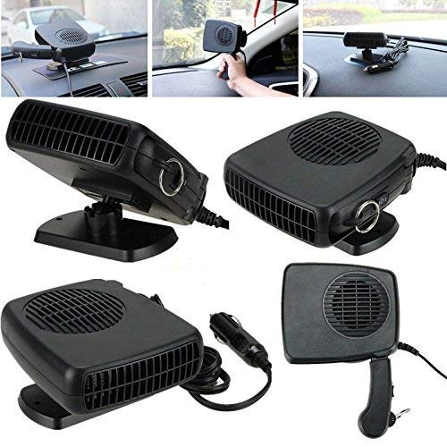 12V Portable Car Heater /& Fan Cooller Defrost Defogger Space Automobile 3-Outlet Plug Adjustable Thermostat Fast Cooling /& Heating