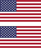 Set of 2 American Flag Bumper Sticker Window Sticker Military Size 4'' x 2.1'' Made in USA By Pip & Co