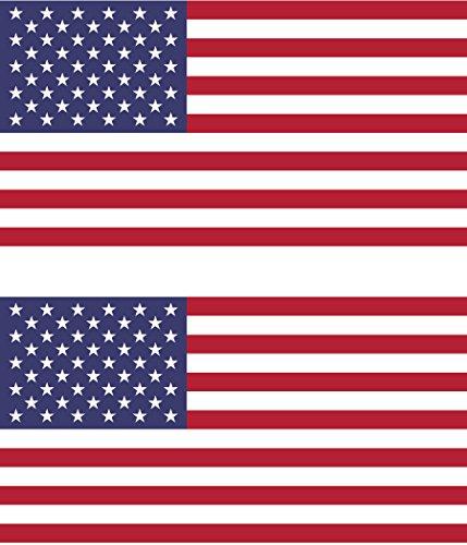 Set of 2 American Flag Bumper Sticker Window Sticker Military Size 4