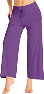 Sweepstakes: fitglam Women's Lounge Pants Culottes Pant Yoga Palazzo...