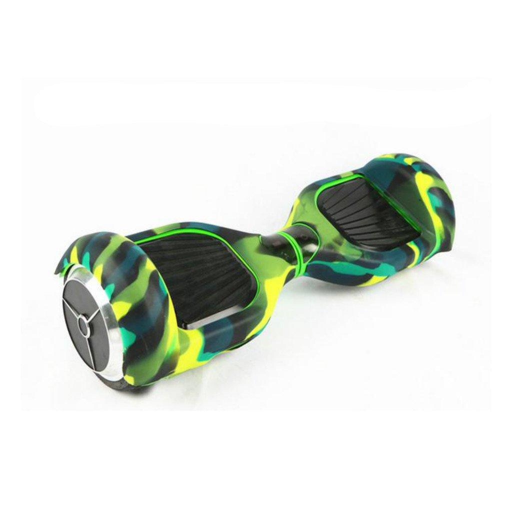6.5 Silikon Schutzhülle Gehäuse für Selbst Balancing E-Scooter Hoverboard, New Arrivals, mehr Farbe Auswählbar, Best Seller - Grün-Tarnung mehr Farbe Auswählbar