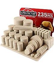 Meubilair Pads Vloerbeschermers X-PROTECTOR 235 PCS - Vilten Pads voor Stoelpoten - Premium Meubilair Vilten Pads voor Meubelpoten - Enorme hoeveelheid Vloerbescherming Pads - Bescherm uw houten vloeren!