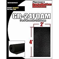 DJ Speaker Woofer Cabinet Grill Foam 2 Wide x 4Long x 3/8 Thick Black