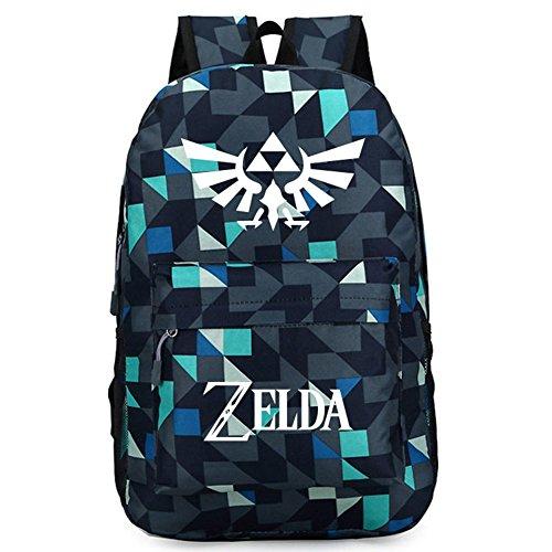 Legend of Zelda Link Backpack Oxford Cloth Black Large Capacity Cosplay Durable Travel School Bag
