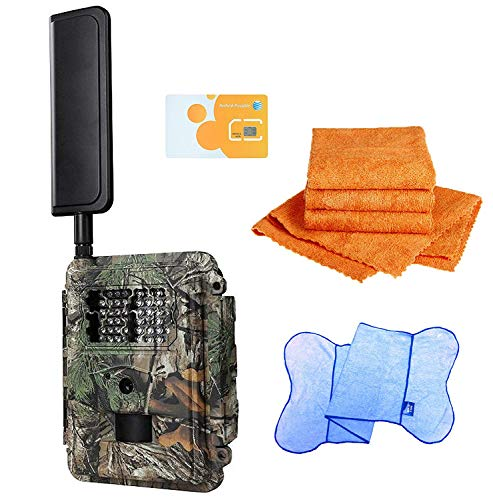 Spartan HD GoCam (AT&T Version, Model#GC-A4Gi) 4G Wireless, Infrared (2-Year Warranty) - Bonus Package Bundled with UTowels Edgeless Microfiber Towels