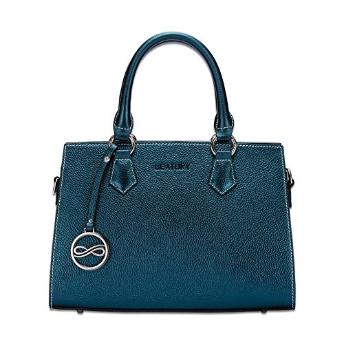notebook tote Blue bag shoulder women's LEATURY handbag leather bag �� Handbag bag bag cosmetic txwqYOqCIE