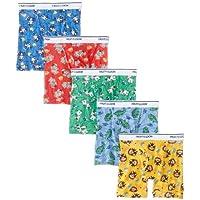 Calzoncillo tipo boxer de Fruit of the Loom para niños pequeños, Múltiple, 4T, (paquete de 5) (LOS COLORES E IMPRESIONES PUEDEN VARIAR)