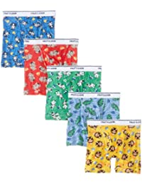 Assorted Toddler Boys' Boxer Brief(Colors and prints may vary) (Pack of 5)