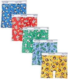 Fruit of the Loom Little Boys\'   Boxer Brief , Multi, 4T, (Pack of 5)(COLORS AND PRINTS MAY VARY)
