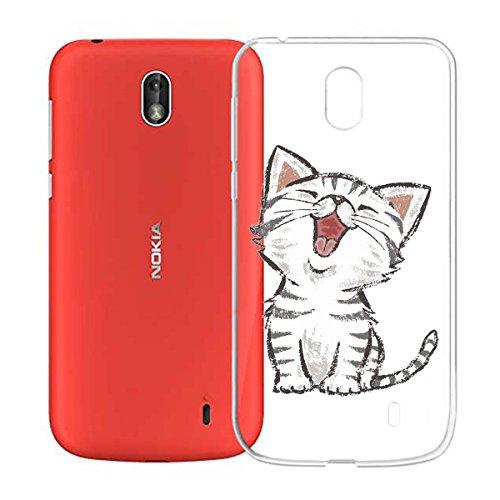 Funda para Nokia 1 , IJIA Transparente Sencillo pausas Musicales TPU Silicona Suave Cover Tapa Caso Parachoques Carcasa Cubierta para Nokia 1 (4.5) WM104