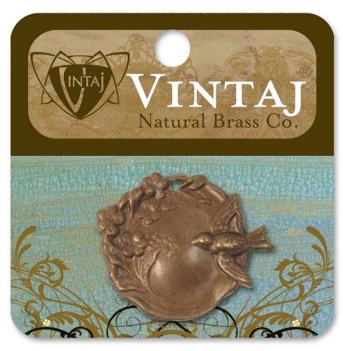 Vintaj 154065 Metall Accent 1-Pkg-Bird Garden Cameo