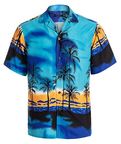 YEAR IN YEAR OUT Mens Hawaiian Shirt Regular Fit Hawaiian Shirts for Men with Quick to Dry Effect(NT1926,XXL)