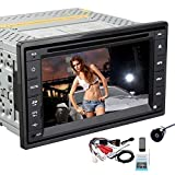 EinCar 2 Din Car Autoradio Stereo In-Dash Head Unit Deck GPS Navigation Steering Wheel Control 6.2-inch HD Touchscreen DVD CD Player Bluetooth FM AM Radio Rearview Camera