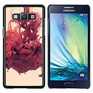 Abstracto rojo- Metal de aluminio y de plástico duro Caja del teléfono - Negro - Samsung Galaxy A5 / SM-A500