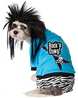Rubies Rock Star Pet Costume and Wig, Extra-Large