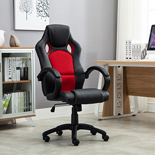 belleze-executive-office-chair-racing-style-pu-leather-swivel-computer-gaming-high-back-black-red