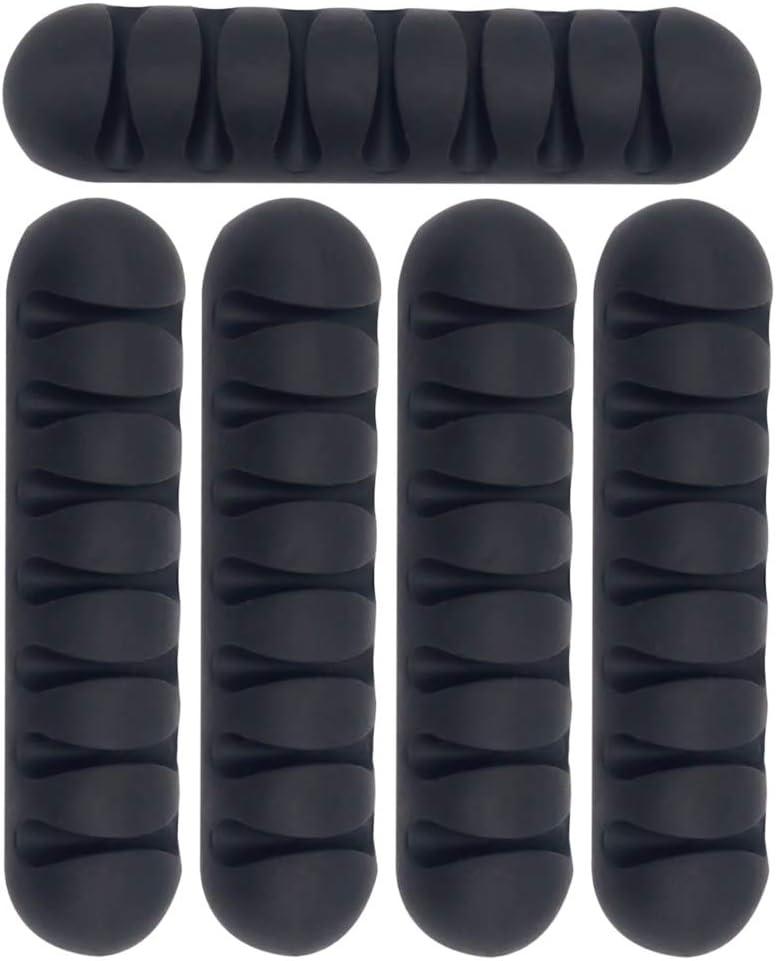 6 colores YOFASEN Clips para Cables Organizador de Cables para USB//TV//Cargador 6piezas Clips de Fijaci/ón Multiprop/ósito