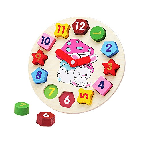Set of Kids Baby Educational Toys Wooden Building Block Toddler Toys for Boys Girls - 3