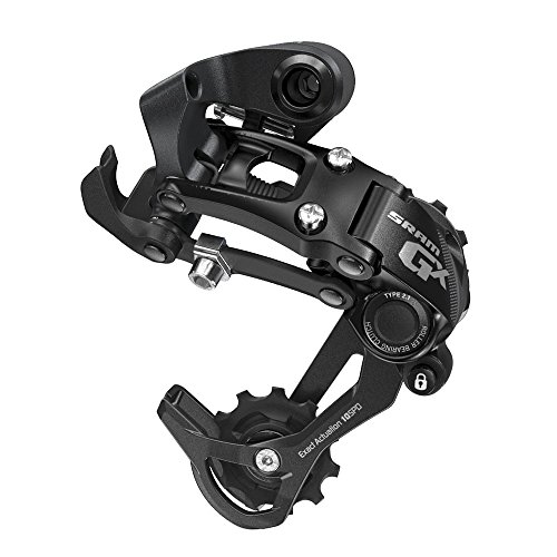 SRAM GX Type 2.1 Bicycle Rear Derailleur with 10 Speed Medium Cage, Black