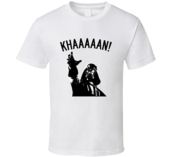 efc5d1ce Amazon.com: Khaaaan! Darth Vader Inaccurate Movie Portrayals Star Wars Star  Trek Funny T Shirt: Clothing