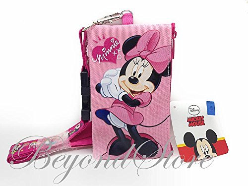 Disney Minnie KeyChain Lanyard Fastpass ID Ticket Holder ()