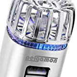 htc accesory - PERGAMON Car Air Purifier Dual Usb Fast Charger Ionizer - Freshener │Kills Bacteria and Viruses│Smoke and Odor Remover │ Easy Plug & Play │ LED Light Easy to Locate │ Most Upgraded 2018 Version │