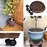 Skelang Pack of 2 Plant Pallet Caddy Plant Stand