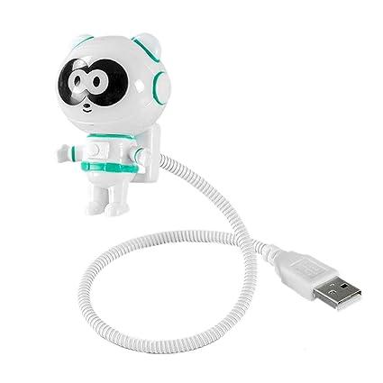 Huafi - Lámpara de Lectura portátil con luz LED y Cable USB para ...
