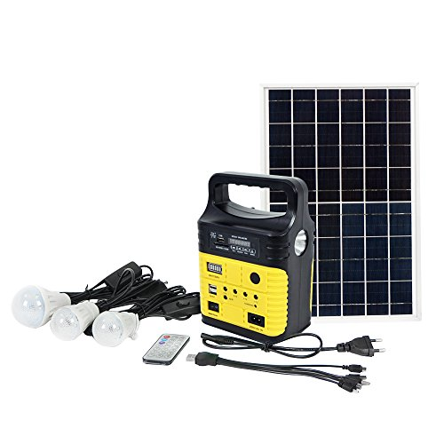 ECO-WORTHY 10Watt Portable Solar Generator Kit, Power Inverter, Solar Generator System for Home & Camping, 7500mAh Rechargeable Battery Pack UPS Power Supply
