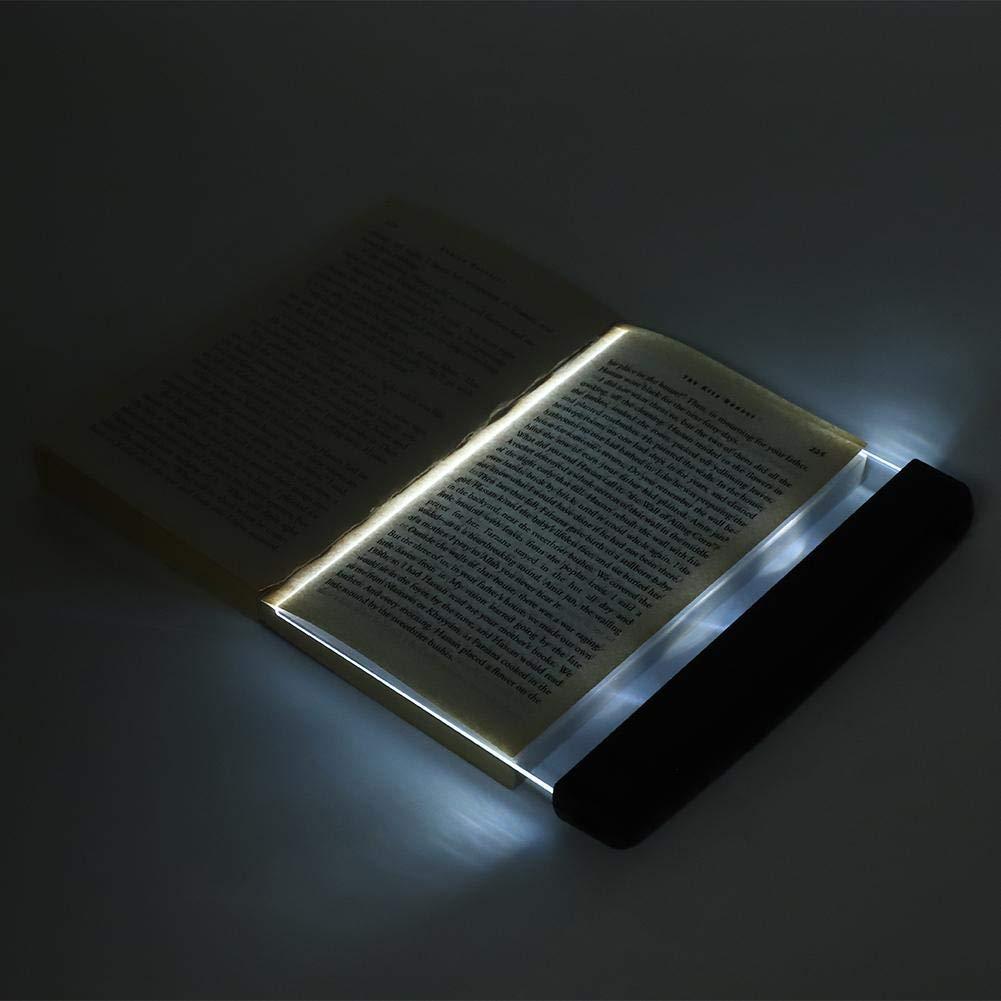 Luz de Lectura de Libro de LED l/ámpara de Lectura de luz de Libro de Bolsillo con Tablero para Libros en la Cama por la Noche