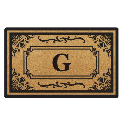 Creative Accents Heavy Duty Coco Georgetown Doormat, 24 by 39-Inch, Monogrammed G (Monogram Coco Mat)
