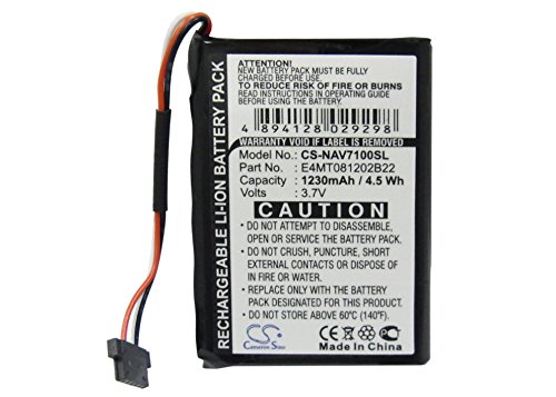 Cameron sino 1230mAh (ersetzt Navigon 541380530002 ) Li-Polymer Replacement Battery for NAVMAN N20 Navigon Triansonic PNA 7000 / 7000T / 7100 / 7310 / 6000 / 6000T - Navman Battery