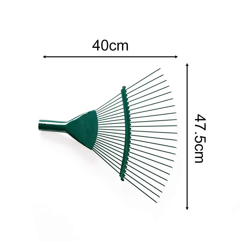 /22 Zahn Rasenrechen Rostfreier Stahl Gartenharke Teleskopische verstellbare Faltung Laubbesen zur Reinigung von Laubkr/äutern
