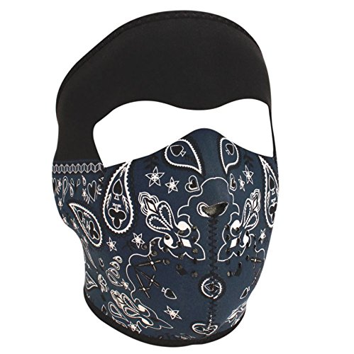Zanheadgear Neoprene Full Face Mask, Blue Paisley -