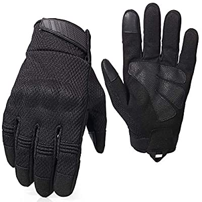 AXBXCX Breathable Flexible Touch Screen Rubber Hard Knuckle Full Finger Tactical Gloves