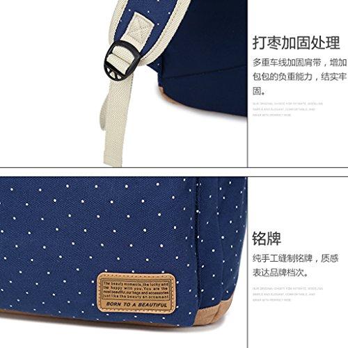 Blue Girls School Bookbags Dabixx Backpacks Lightweight Gray For Canvas Light Lake Cute Teen tvFvgxq8pw