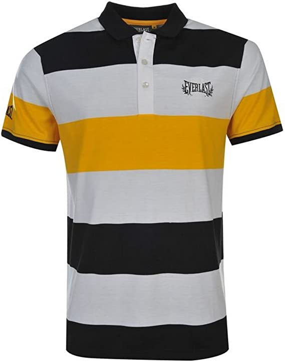 Everlast - Polo - para Hombre Noir/Blanc/Jaune Large: Amazon.es ...