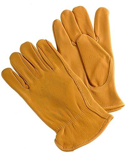 M & F Western Men's Hd Xtreme Deerskin Gloves Tan - Mens Glove Justin