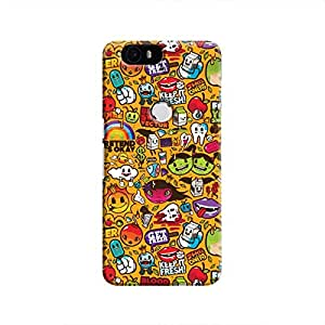 Cover It Up Stickers Hard Case For Nexus 6P - Multi Color