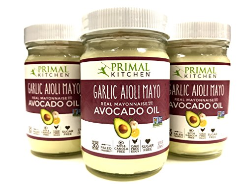 Primal Kitchen - Avocado Oil-Based Mayo, Garlic Aioli, Gluten and Dairy Free, Whole30 and Paleo Approved | 3 Packs