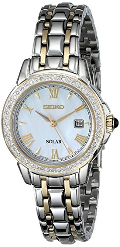 Seiko Women's SUT170 Diamond-Accented Two-Tone Stainless Steel Watch with Link (Movement Two Tone Diamond)