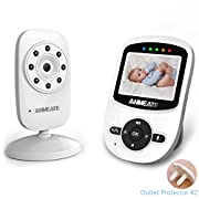 Video Baby Monitor with Camera and Infrared Night Vision, Two-Way Talkback, and Temperature Monitor – Long Range, Monitor Your Baby All Round the Clock, 2nd Camera is available. (Neutral White)