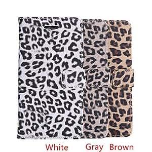 GX estilo del leopardo funda de piel de todo el cuerpo con ranura para tarjeta para la galaxia nota 4 / N910 (colores surtidos) , Brown