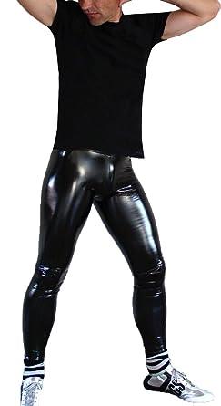 Gothic Legging Pvc Oberschenkel Glossy Herren Hose Elastische Linvme 8nOwPk0