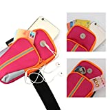 A-szcxtop Sports Armband Double Pockets